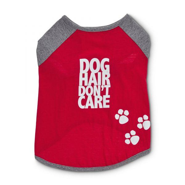 Dog Hair Don't Care Graphic Dog T-Shirt