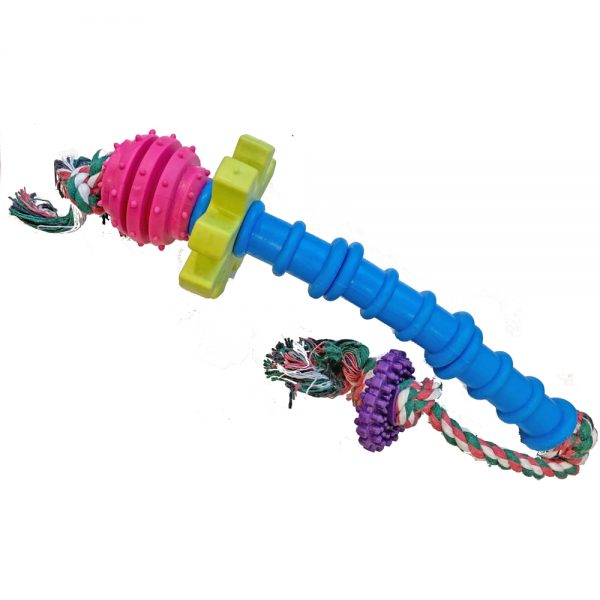 Chew Rope Toy TPR Safe Durable Dog Puppy Toy